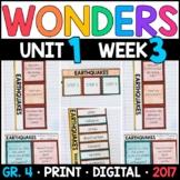 Wonders 4th Grade, Unit 1 Week 3: Earthquakes Interactive