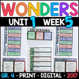 Wonders 4th Grade, Unit 1 Week 5: Kids in Business Interactive Supplements