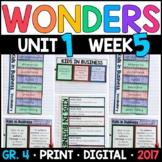 Wonders 4th Grade, Unit 1 Week 5: Kids in Business Supplement w/ GOOGLE Classoom