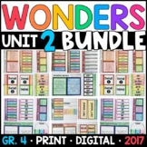 Wonders 4th Grade Unit 2 BUNDLE: Interactive Notebook Pages and Supplements