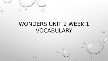 Wonders 4th Grade Unit 2 Week 1 Editable Vocabulary Powerpoint