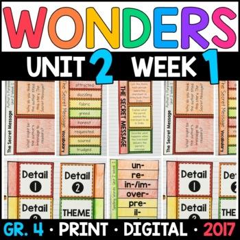 Wonders 4th Grade, Unit 2 Week 1: The Secret Message Supplements
