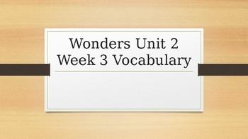 Wonders 4th Grade Unit 2 Week 3 Editable Vocabulary Powerpoint