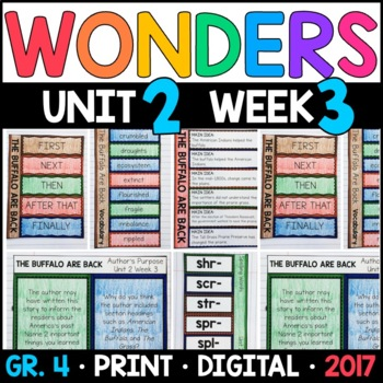 Wonders 4th Grade, Unit 2 Week 3: The Buffalo Are Back Interactive Supplements