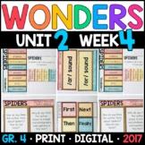 Wonders 4th Grade, Unit 2 Week 4: Spiders Interactive Supplements