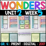 Wonders 4th Grade, Unit 2 Week 5: The Sandpiper & Bat Poetry Supplements
