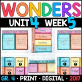 Wonders 4th Grade, Unit 4 Week 5: Swimming to the Rock Int