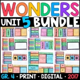 Wonders 4th Grade Unit 5 BUNDLE: Interactive Notebook Pages and Supplements
