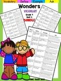 Wonders 4th Grade Vocabulary Bundle Unit-1