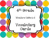 Wonders 4th Grade Vocabulary Cards
