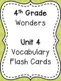 Wonders 4th Grade Vocabulary Flash Cards - Unit 4
