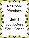 Wonders 4th Grade Vocabulary Flash Cards - Unit 4