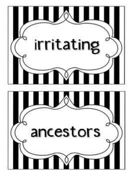 Wonders 4th Grade Vocabulary Words - Unit 6