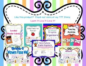 Wonders Reading 4th Grade Word Wall Unit 1