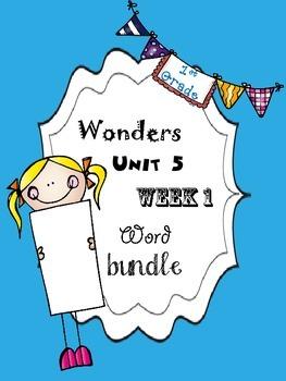 Wonders 5.1 Word Bundle