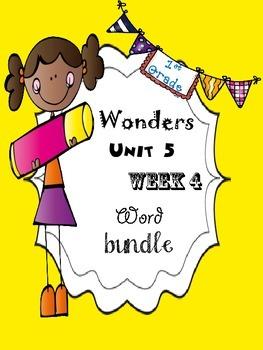 Wonders 5.4 Word Bundle