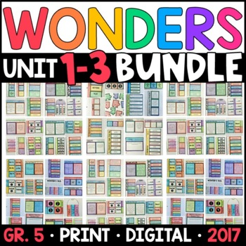 Wonders 5th Grade HALF-YEAR BUNDLE: Units 1-3 (Interactive Pages & Supplements)