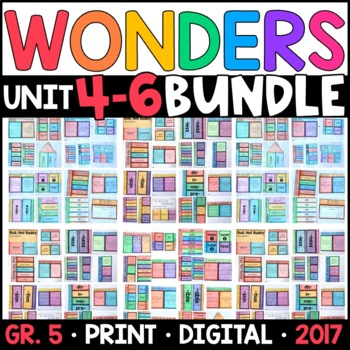 Wonders 5th Grade HALF-YEAR BUNDLE: Units 4-6 (Interactive Pages & Supplements)
