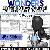 Wonders 4th Grade Interactive Journal Unit 1 BUNDLE