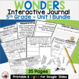 Wonders 5th Grade Interactive Journal Unit 1 BUNDLE