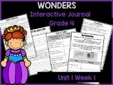 Wonders 4th Grade Interactive Journal Unit 1-Week-1