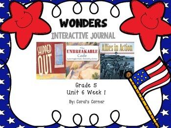 Wonders 5th Grade Interactive Journal Unit 6-Week-1