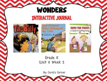 Wonders 5th Grade Interactive Journal Unit 6-Week-2