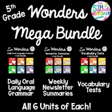Wonders 5th Grade Mega Bundle- Newsletters, Daily Language