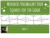 Wonders 5th Grade Unit 1 Vocabulary Four Squares