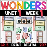Wonders 5th Grade, Unit 1 Week 1: One Hen Supplements with
