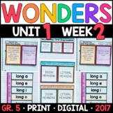 Wonders 5th Grade, Unit 1 Week 2: Second Day, First Impressions Supplements