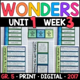 Wonders 5th Grade, Unit 1 Week 3: Camping with President with GOOGLE Classroom