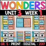 Wonders 5th Grade, Unit 3 Week 1: They Don't Mean It! Interactive Supplements