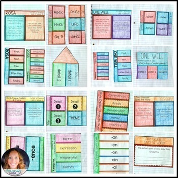 Wonders 5th Grade Unit 4 BUNDLE: Interactive Notebook Pages and Supplements