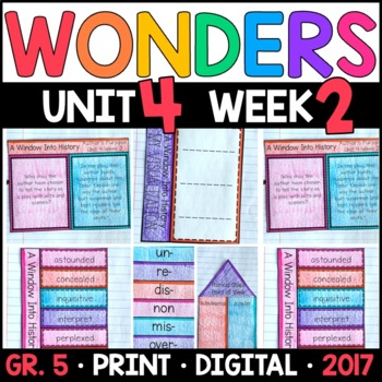 Wonders 5th Grade, Unit 4 Week 2: A Window Into History Interactive Supplements