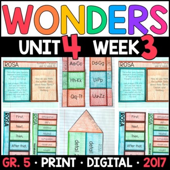 Wonders 5th Grade, Unit 4 Week 3: Rosa Interactive Supplements