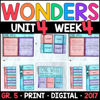 Wonders 5th Grade, Unit 4 Week 4: One Well Interactive Supplements