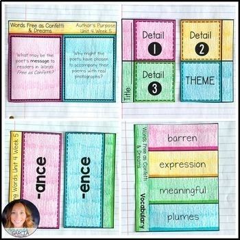 Wonders 5th Grade, Unit 4 Week 5: Words Free as Confetti and Dreams Supplements