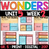 Wonders 5th Grade, Unit 5 Week 2: Bud, Not Buddy Interactive Supplements