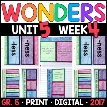 Wonders 5th Grade, Unit 5 Week 4: When Is a Planet Not a Planet? Supplements