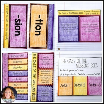 Wonders 5th Grade, Unit 5 Week 5: The Case of the Missing Bees Supplements