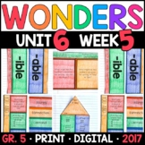 Wonders 5th Grade, Unit 6 Week 5: You Are My Music and You and I Supplements