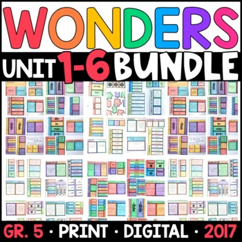 Wonders 5th Grade WHOLE-YEAR BUNDLE Units 1-6 (Interactive Pages & Supplements)