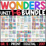 Wonders 5th Grade WHOLE-YEAR BUNDLE Units 1-6 (Aligned Interactive Supplements)