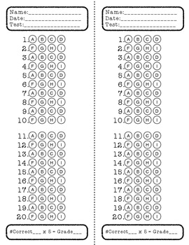 Wonders 5th Grade Weekly Assessment Answer Documents