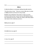 Wonders 5th Grade - Whitewater Adventure Idioms Worksheet