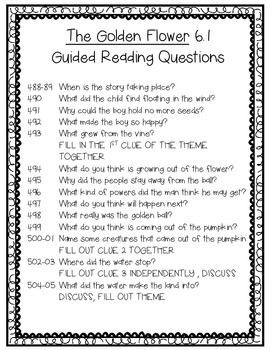 Wonders 6.1 Guided Reading Questions FREE