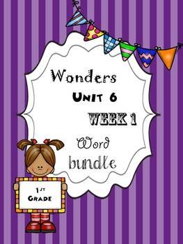 Wonders 6.1 Word Bundle