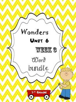Wonders 6.3 Word Bundle