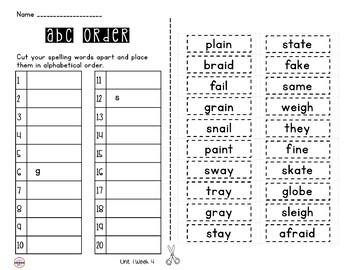 Wonders ABC Order 3rd Grade